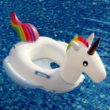 2017 New Baby Unicorn Seat Inflatable Swan Pool Float Kids Swimming float 27.5 Inch Swimming Ring Baby Summer Water Fun Pool Toy