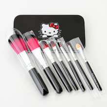 Hello Kitty Makeup Brushes Sets Professional Cosmetic Brushes Foundation Powder Eyeshadow Eyebrow Brush Beauty Tool + Metal Box