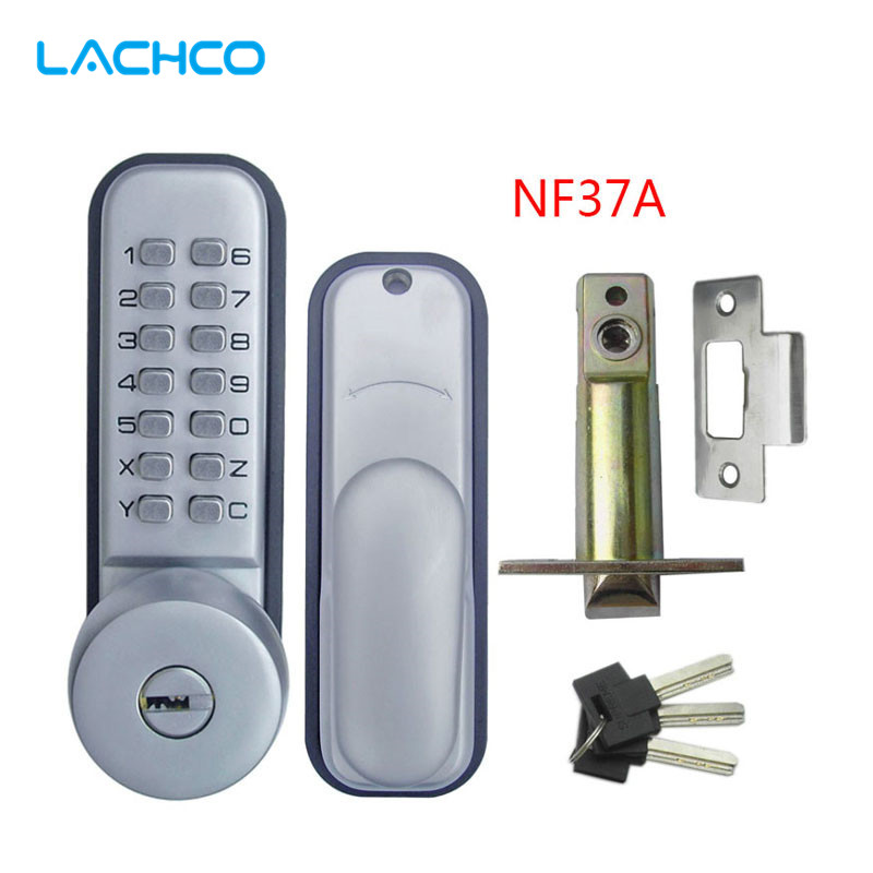 LACHCO Mechanical Code Door Lock Digital Machinery Keypad Password Entry lock Stainless Steel Latch Zinc Alloy Silver  L17012<br>