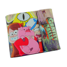 Free Shipping Anime Cartoon Three Fold Hasp Wallet Five Nights At Freddy`s / Gravity Falls /Dragon Ball /Undertale Wallets(China)