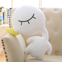 Candice guo! super cute plush toy cartoon white goose duck doll creative cushion pillow funny birthday Christmas gift 1pc