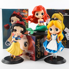 1pcs Q posket snow white Mermaid Alice Princess Doll Ornaments Automotive Decoration With Retail Box(China)
