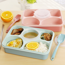 Life83 5 plus 1 Sealed Microwaveable Lunch box bento box For kids School Office with simplicity fresh style