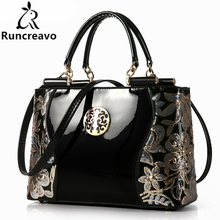 2017 New style Europe fashion sequined chains Luxury patent leather bags handbags women bags designer famous brands versatile(China)