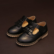 Mntrerm 2017 The New Hot Sale Girls Shoes Girl Princess Shoes Wild Fashion Genuine Leather Shoes Girls Black Shoes
