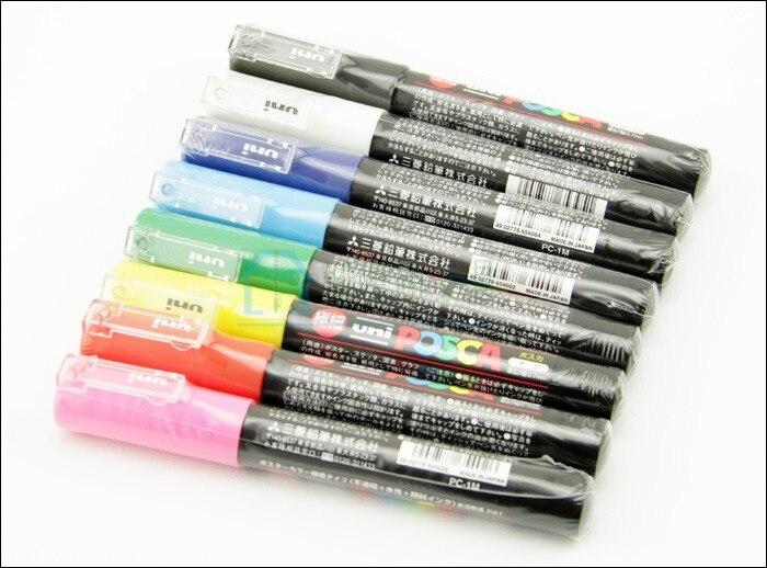 UNI POSCA PC-1M pernanent art markers 0.7mm,8 colors/set<br>