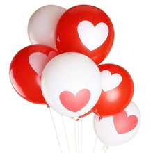10pcs/set  Love Heart Balloons Birthday Party Wedding Decoration Balloons 2 Colors