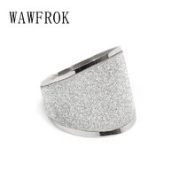 WAWFROK Bague acier inoxydable au fini brillant Stainless steel Rings Woman Classic Ring Jewellery(China)