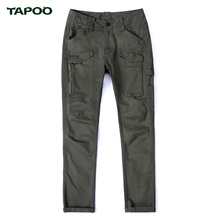 TAPOO New Men Cargo Pants Retro Tooling Agents Trousers Multi Pockets Decoration Casual Easy Wash Male Spring Autumn Pants(China)