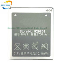 QiAN SiMAi 2750mAh New 100% high quality G3 Battery for JIayu G3 G3S G3C G3T mobile phone Free shipping+track code(China)
