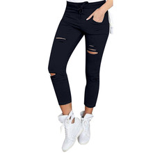 Buy Summer Women Leggings Hole Hollow Solid Ankle-Length Yuga Pants 2018 Pencil Casual Pants Women Sportings Workout Autumn for $7.29 in AliExpress store