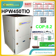 packaged 3-in-1 ground heat pump make use of engery completely to produce hot water, cooling & heating, low running costs(China)