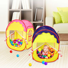 Portable Fairy Tale Princess Castle Childrens Indoor Outdoor Play Tent,pop up Play house of Kids Fun pink and blue(China)