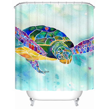 Waterproof Fabric Shower Curtain Custom Turtle Bath Curtains for Kids Wet Room Gift
