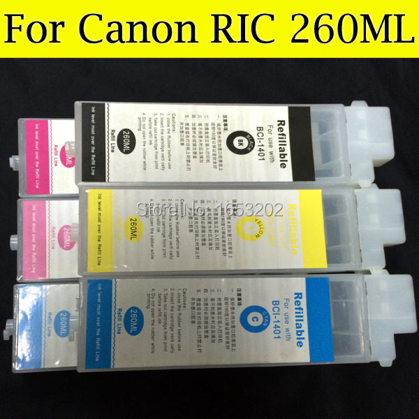 6 Color For Canon BCI-1401 BCI1401 Refillable Ink Cartridge For Canon W6400 W6200 W7250 With Compatible Chip<br><br>Aliexpress