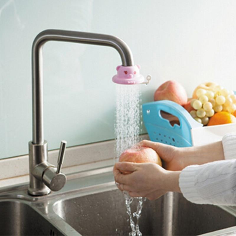 Spout Shower Head Cartoon Faucet Eco-friendly Home Water Regulator 1pc Kitchen T