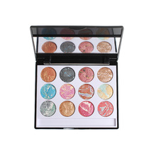 12 Colors Glitter Baked Eyeshadow Palette Earth Color Painted Eye Shadow Pigment Waterproof Eye kit Eye Makeup Party Queen