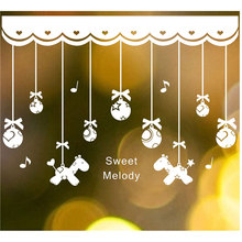 Christmas Crystal Balls hanging chain Christmas new year home decorations Stores Showcase Glass for kids Festival Wall Stickers(China)