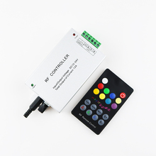 RGB Led Music Controller 18 Key DC12V 24V Audio Sound 3 Channel*4A 12A RF 433.92mhz Wireless Remote to Control Strip Light 1PCS
