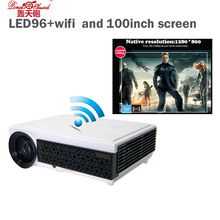 Poner Saund Projector 5000 Lumens TV Home Theater LED Projector Support Full Hd 1080p Video Media player Hdmi LCD 3D Beamer