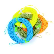 2 Welded Loops Floating Fly Fishing Line Fly Lines WF-2F/3F/4F/5F/6F/7F/8F 100FT Orange/green/blue/ yellow Color Fishing Tackle