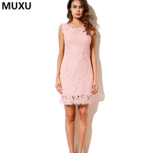 Buy new sexy dress women sleeveless lace crochet summer party dresses plus size pink jurken dresses womens clothing vestidos mujer for $20.89 in AliExpress store
