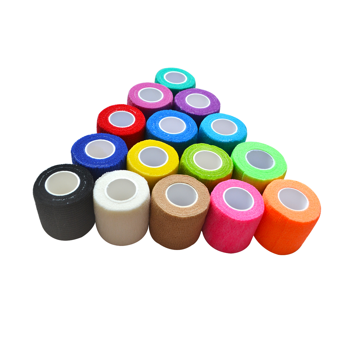 1pcs 5cm Self Adhesive Non Woven Elastic Cohesive Bandage Wrap Tape High Quality Sports Protection Nail Polish Remover Colorful
