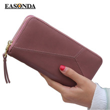 Women Wallet Geometric Wristband female long zipper women purse large capacity coin wallet purse brand new Fashion phone clutch