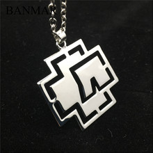 BANMAR Germany Hip-Hop Rammstein Rock Band Necklace Silver Plated Hollow Pendant Punk Fashion Women Men Chain Necklace Jewelry