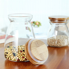 Trapezoid Storage Bottle Kitchen Store Food Ingredient Eco-friendly Store Nut Grain Candy Biscuit Classification Storage Jar(China)
