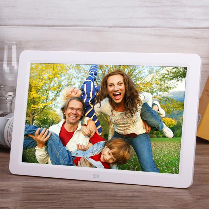 ALLOYSEED 12 Inch Digital Photo Frame 1280X00 HD LED Video Display Electronic Album Picture USB MP3 Music Player Clock Calendar 21