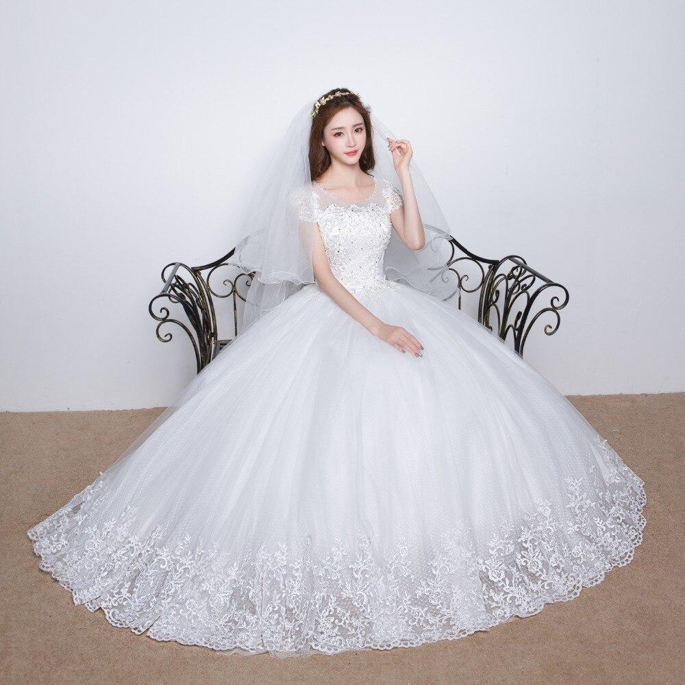 princess style wedding dress 2016 bride dress simple sheap bridal gown real photo wedding dress weding weeding vestido de noiva