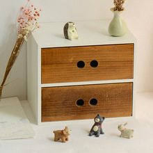 Wooden Finishing Drawer Office Desk Storage Cabinet Cosmetic Organizer MakeUp Drawers Jewelry Stationery Storage Boxes Shelf