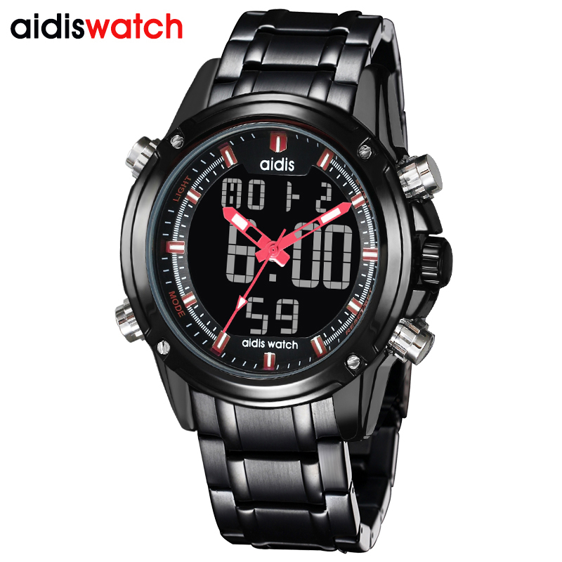 2017 Luxury Brand Men Military Sports Watches Mens Quartz LED Digital Male Full Steel Wrist Watch men boy Clock reloj hombre<br>