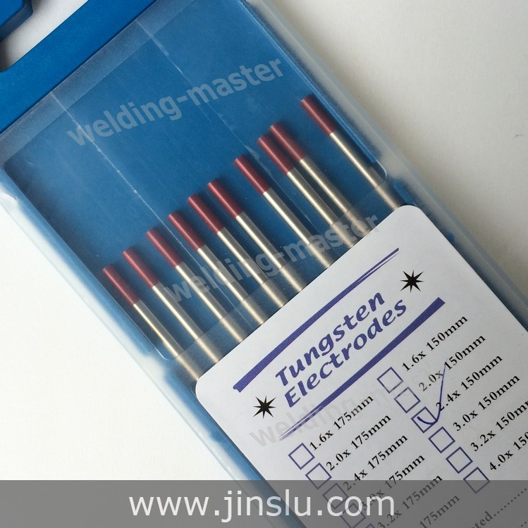Free Shipping 10PCS 2% red tip WT20 Thorium Tungsten electrode 2.4mm for TIG welding<br><br>Aliexpress
