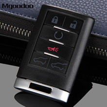 Mgoodoo 6 Buttons Auto Repalcement Smart Keyless Remote Key Shell Case Entry Fob Car-covers For Cadillac DTS CTS STS XTS