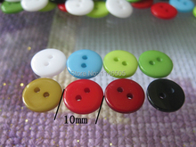 10mm 200pcs candy colors sewing bulk buttons sewing accessories Resin kids garment Buttons crafts cloth accessory