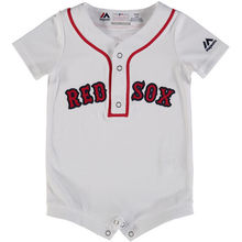 MLB Newborn & Infant Boston Red Sox Baseball Home White Cool Base Romper Jersey(China)