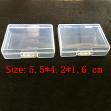 Free shipping Small Parts Transparent Collapsible Plastic Boxes Small Jewelry Storage Packaging Box(China)