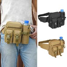 Military Style Travel Water Bottle Waistbag Fanny Waist Pack Bags 600D Nylon Belt Climb Bags