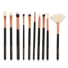10Pcs Pro Makeup Brushes Set Maquiagem Cosmetic Blusher Foundation Highlighter Eye Shadow Brushes Powder Brushes Set Tools Kit
