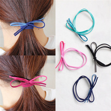 20pcs Fashion Women's Hair Bows Elastic Hair Bands For Women Cute Designers Ponytail Holders Head Rope Rubber Hair Acceessories(China)