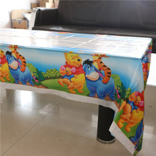 2pc Cartoon Winnie Pooh Tablecover Party Plastic Tablecloth Baby Shower Maps Kids Favors Birthday Party Decoration Supplies