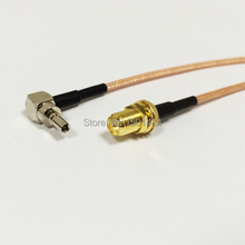 3G modem antenna extension CRC9 right angle switch RP SMA female pigtail cable lots of 10PCS NEW