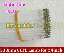 "Super light  533mm * 2.4mm 24"" CCFL tube Cold cathode fluorescent lamps LCD monitor backlight tube 533mm"