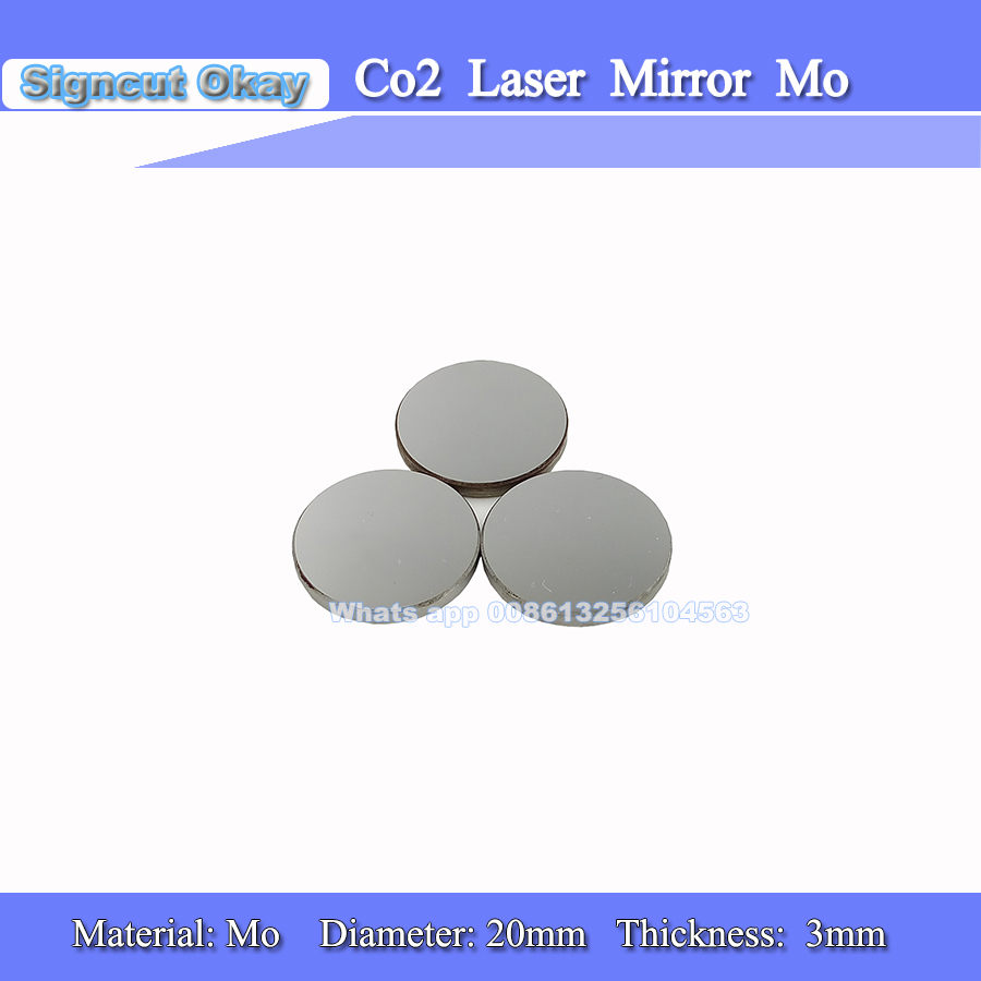 3pcs/lot Laser Mirror Lens Mo Diameter 20mm Thickness 3mm Reflector Lens for Laser Engraving and Cutting Machine Free Shipping(China (Mainland))
