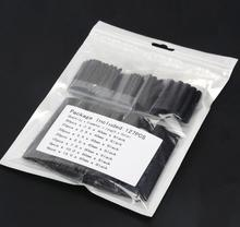 127pcs Black 7 Sizes Insulation Assortment Polyolefin H 2:1 Electronic Heat Shrink Tubing Tube Sleeve Wrap Wire Cable Kit Top(China)