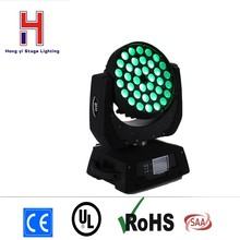(1 pieces/lot) moving head wash led dmx stage lights zoom mobil head light 36x12w rgbw led effect