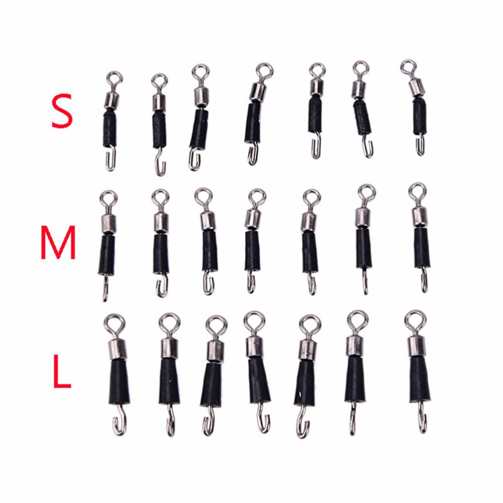 New 30 Pcs/Pcak Ball Bearing Swivel Solid Rings quick fast link connector Fishing Hook
