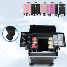 Professional Trolley Cosmetic Case Hand-held High-capacity Nail Make-up Embroidery Hair Beauty Toolbox Cosmetic Bag